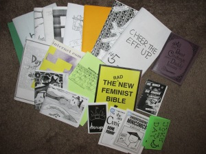 Zines from fellow tablers.